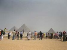 panorama piramide Giza