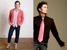 Haine roz barbatesti