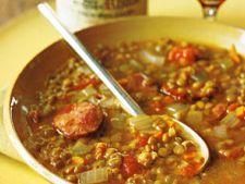 supa de linte cu carnati