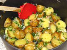 cartofi ceapa verde