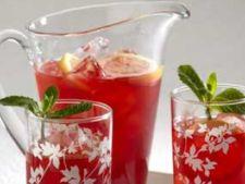 Ice tea cu zmeura si menta