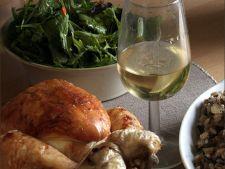 Friptura de pui cu vin si ciuperci