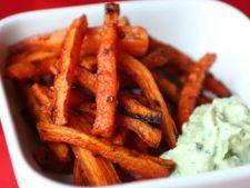 Reteta pentru copii: bete de morcovi la cuptor
