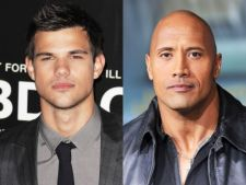 Taylor Lautner si Dwayne Johnson, adversari in