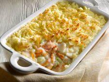 Placinta de peste si cartofi