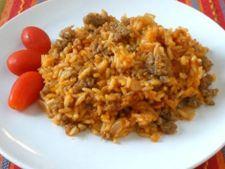 Mancare de orez si carnati