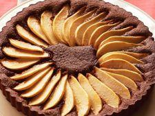 Tarta cu pere si ciocolata