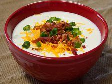 Supa din cartofi copti