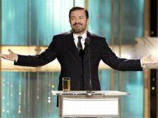 Ricky Gervais vrea sa prezinte Oscarurile si Globurile de Aur