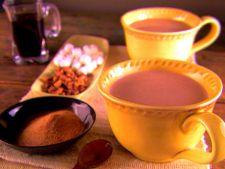 Ciocolata calda cu fulgi de ciocolata