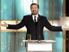 Ricky Gervais, din nou gazda Globurilor de Aur