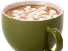 Cacao calda cu lapte si bezele