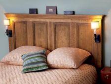 Cum sa transformi usa de la intrare in tablie de pat