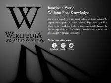 Wikipedia, inchisa astazi in semn de protest pentru SOPA