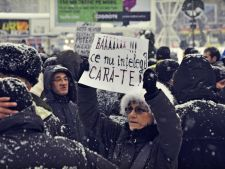 Protestatarii  nu renunta