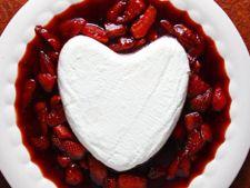 Retete de Valentine's Day: coeur a la creme, crema de branza cu zmeura si capsuni