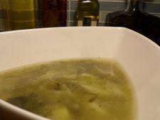 Supa de praz cu varza si ceapa