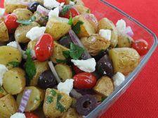 Salata de cartofi copti cu masline