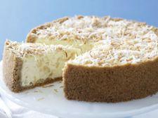 Cheesecake cu ananas si nuca de cocos