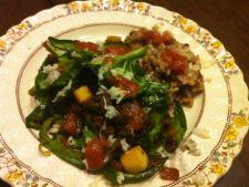 Salata de spanac cu friptura de vita