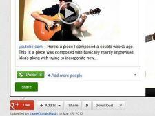 Google+ scoate butonul de