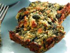 Placinta de spanac cu ardei