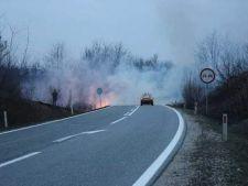 Avertizare Infotrafic pentru soferii care circula in zonele cu incendii de vegetatie