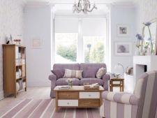 Idei creative pentru un living in culori pastelate