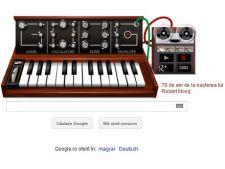 78 de ani de la nasterea lui Robert Moog, aniversare Google