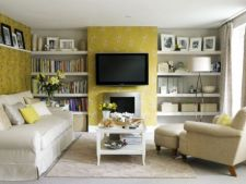 Idei pentru un living galben