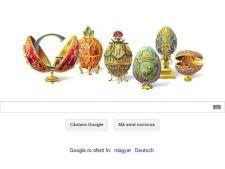 166 ani de la nasterea lui Peter Carl Faberge, aniversare Google cu logo special