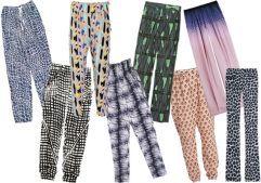 Pantalonii cu imprimeu, in 3 tinute chic