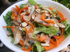 Salata de morcovi, rubarba si nectarine