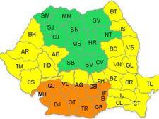 Cod portocaliu de canicula in Bucuresti si 11 judete
