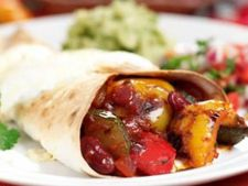 Burrito cu ardei si dovlecei