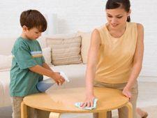 Curatenia in casa cand ai copii