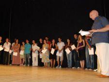 Actrita Sabrina Iaschevici a primit marele premiul la Gala Tanarului Actor- HOP 2012