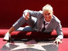 Ellen Degeneres a primit o stea pe Hollywood Walk of Fame