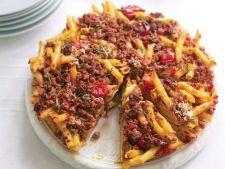 Paste la cuptor cu pancetta, rozmarin si carne tocata