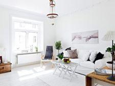 Livingul in stil suedez, un spatiu diurn aerisit si luminos