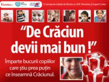 """De Craciun devii mai bun !"", o campanie umanitara initiata de Elanko.ro, Fundatia Hope and Homes for Children Romania si Urgent Curier"