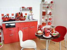 Adauga rosu vibrant in designul bucatariei tale!