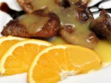 Friptura de curcan cu menta si portocala