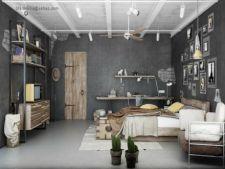 Doua dormitoare cu aspect industrial din care sa te inspiri