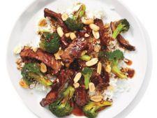 Friptura de vita cu broccoli si sos de stridii