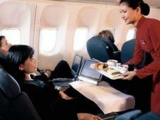 Romanii viseaza la bone si sisteme de divertisment in timpul calatoriilor cu avionul