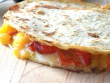 Tortillas cu budinca de ardei gras si porumb