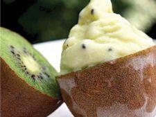 Sorbet de banane cu sirop de kiwi