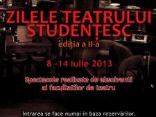 Zilele Teatrului Studentesc se desfasoara intre 8 si 14 iulie la Bucuresti