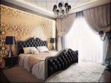 Peretii cu aspect metalizat, ideali pentru o camera luxoasa